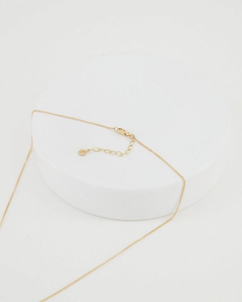 Shell Pendant Necklace -  milk