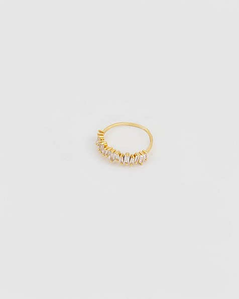 Baguette Stacked Ring -  gold