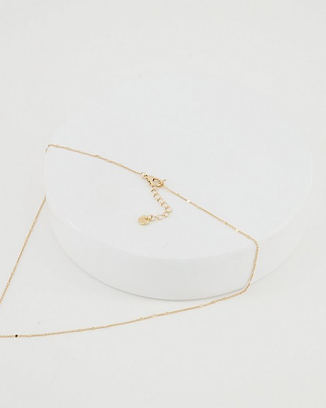 Freshwater Pearl Y-Chain Necklace -  milk