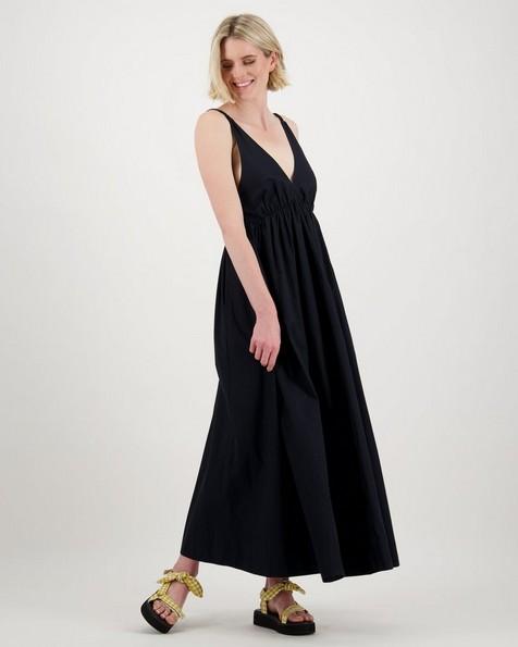 Clay Low Back Maxi Dress -  black