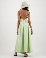 Clay Low Back Maxi Dress -  sage