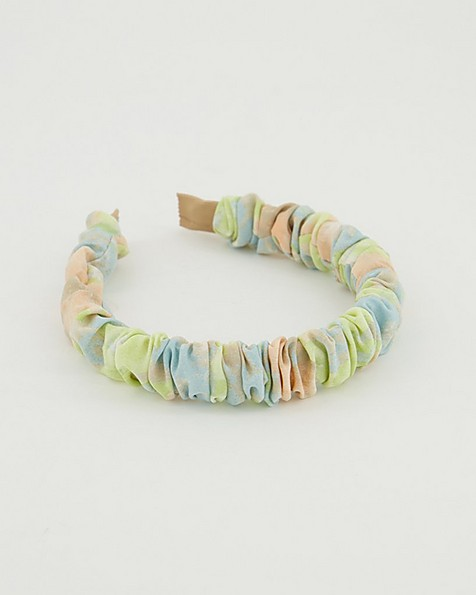 Joelle Ruched Watercolour Alice Band -  assorted