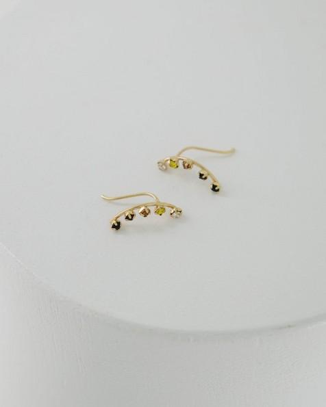 Satellite Halfmoon Stud Earrings -  assorted