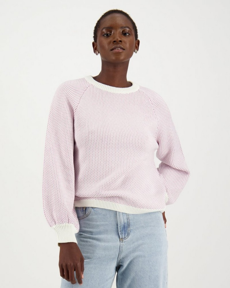 Gigi Knit Pullover -  lilac