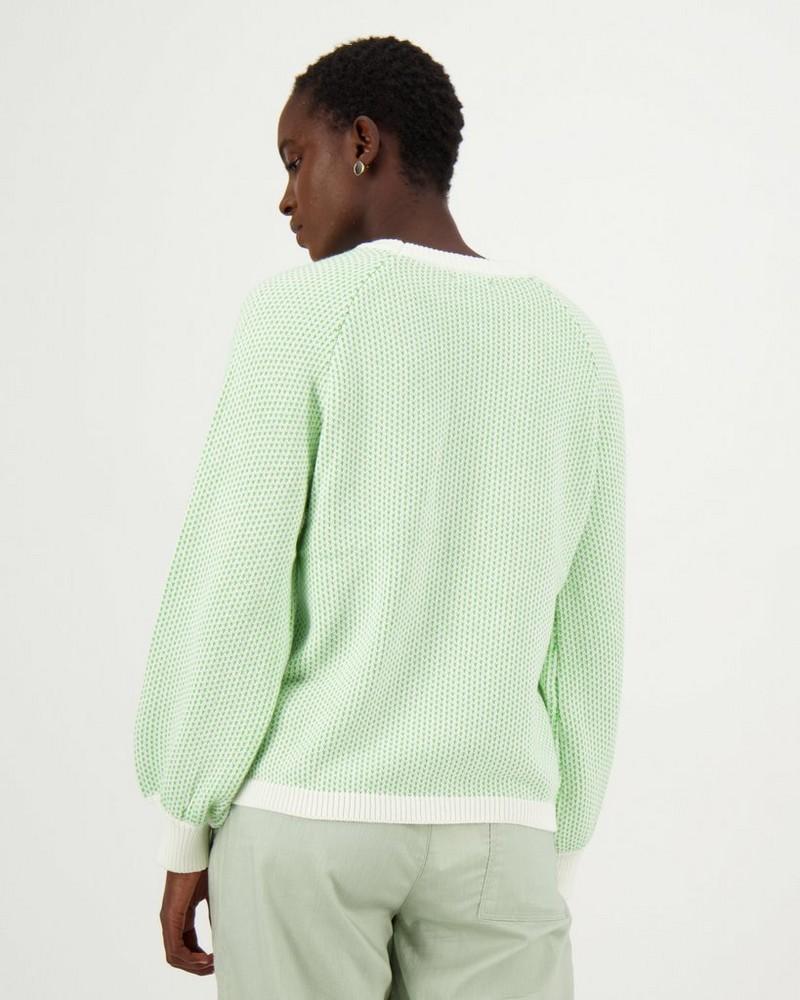 Gigi Knit Pullover -  green