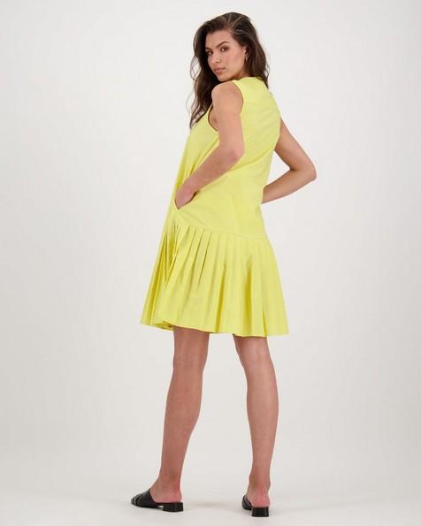 Zobia Poplin Dress -  yellow