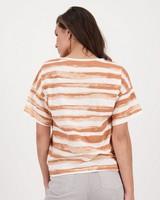 Maia Striped T-shirt -  peach