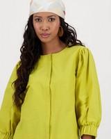 Ayrah Crop Jacket -  yellow