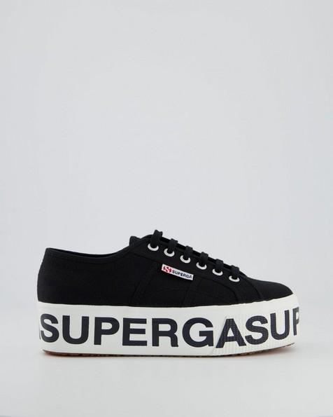 Superga Bold Lettering Sneaker -  black