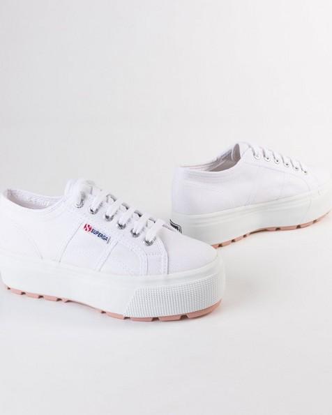Superga Canvas Platform Sneakers -  white