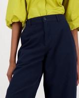 Florence Wide Leg Pants -  navy