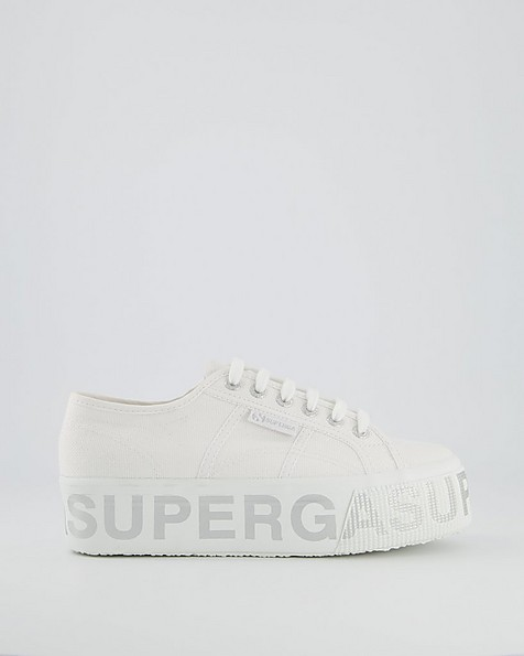Superga Bold Lettering Sneaker -  white
