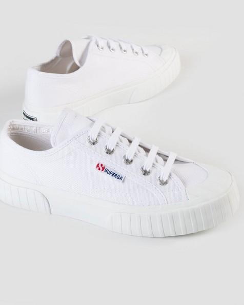 Superga Chunky Striped Classic Sneaker -  white