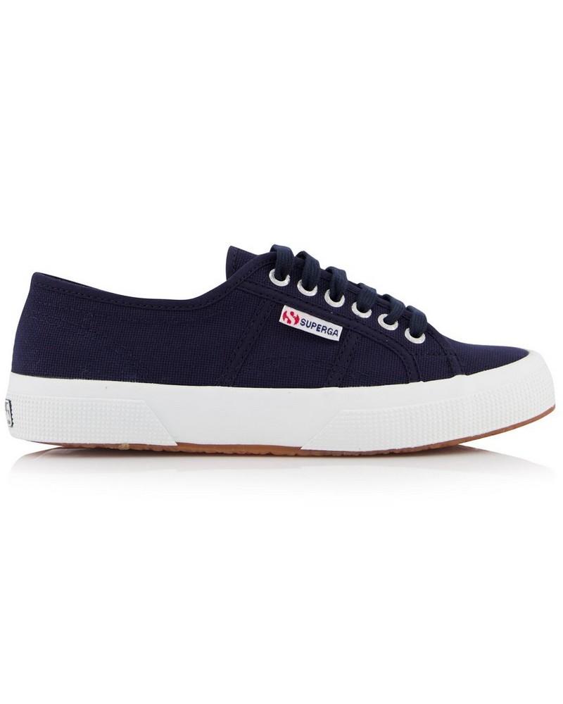 Superga Classic Lo Canvas Sneaker  -  navy