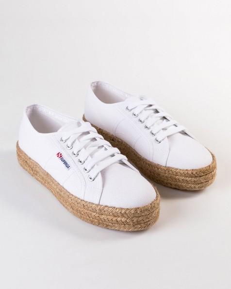 Superga Mid-Platform Rope Sneaker  -  white