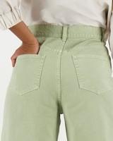 Kyra Wide Leg Denim -  green
