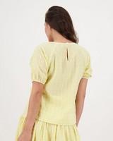 Rio Schiffli Blouse -  yellow