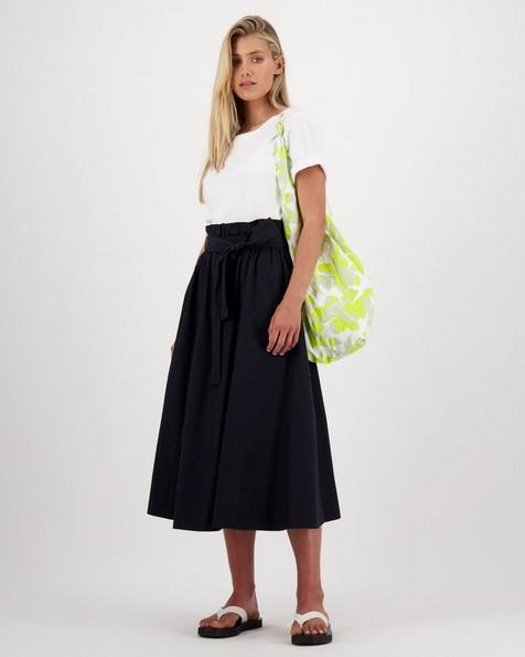 Poetry North Flared Skirt -  black