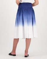 Scarlett Dip Dyed Skirt -  blue
