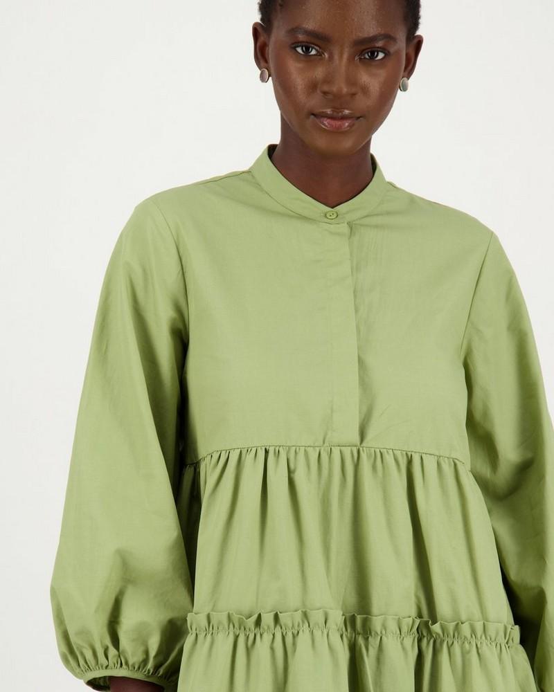Dasha Tiered Dress -  sage