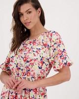 Adelaide Printed Dress -  pink