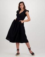 Bryn Schiffli Dress -  black