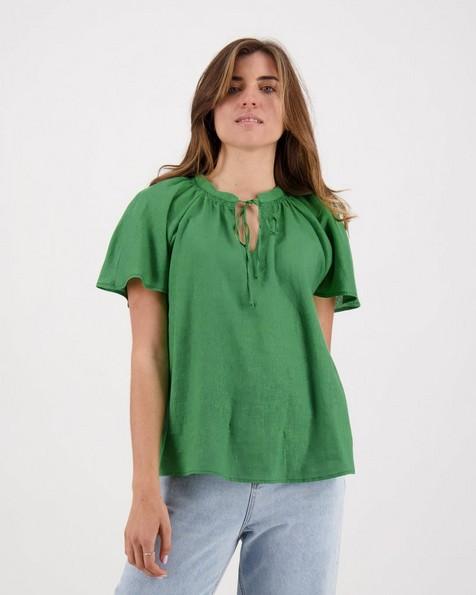 Sara Popover Top -  olive