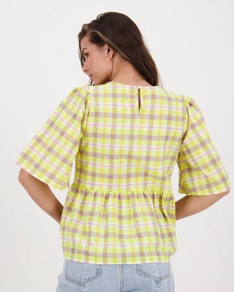 Margot Printed Popover -  lemon
