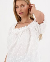 Celeste Interest Blouse -  white