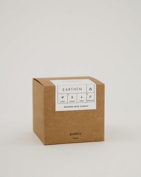 Earthen Boxed Candle -  rust