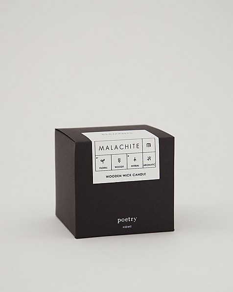 Malachite Boxed Candle -  green