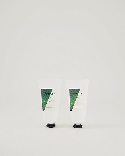 Malachite Hand Cream-Sanitizer 2pk -  green