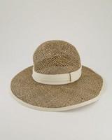Harper Straw Bucket Hat  -  oatmeal