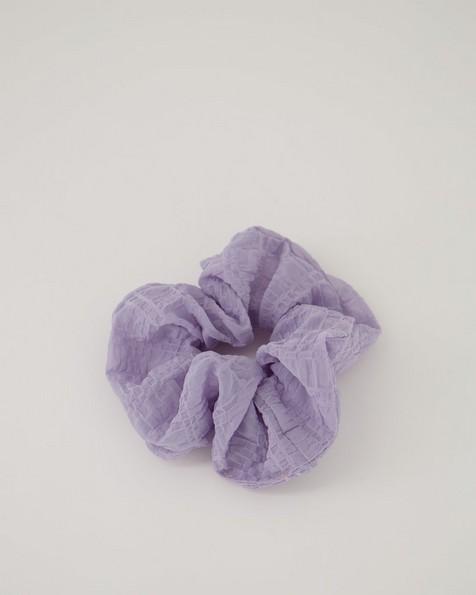 Miki Textured Scrunchie -  lilac