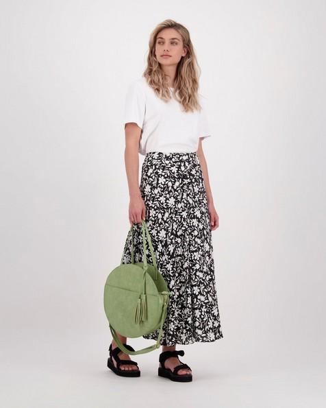 Ola Floral Skirt -  black