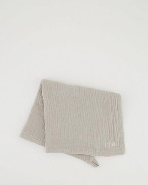 Poetry Face Cloth -  grey