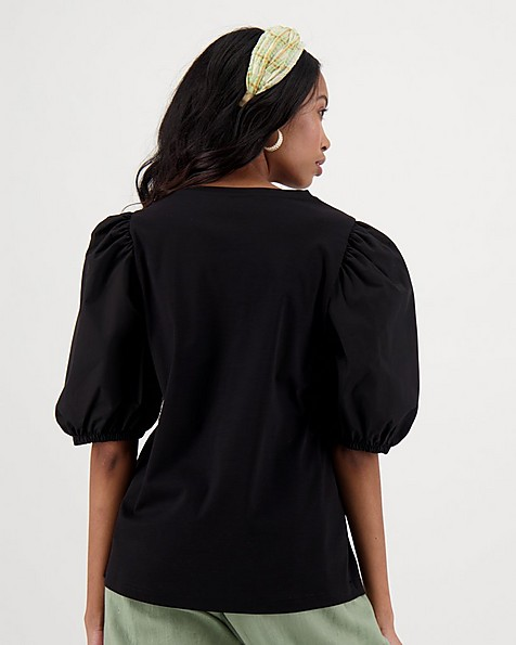 Gardner Combination T-shirt -  black