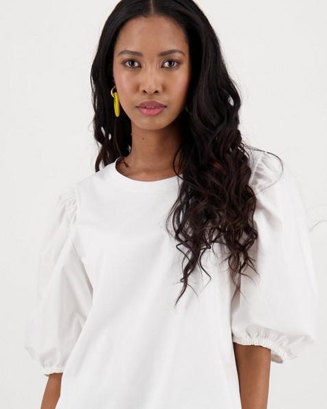 Gardner Combination T-shirt -  white