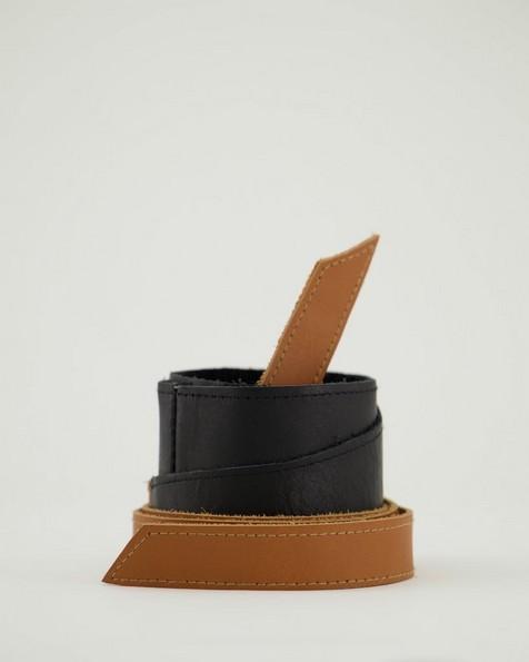 Tammy Colourblock Belt -  black