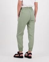 Lin Linen Jogger -  green