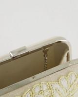 Miwa Embroidered Clutch Bag -  oatmeal