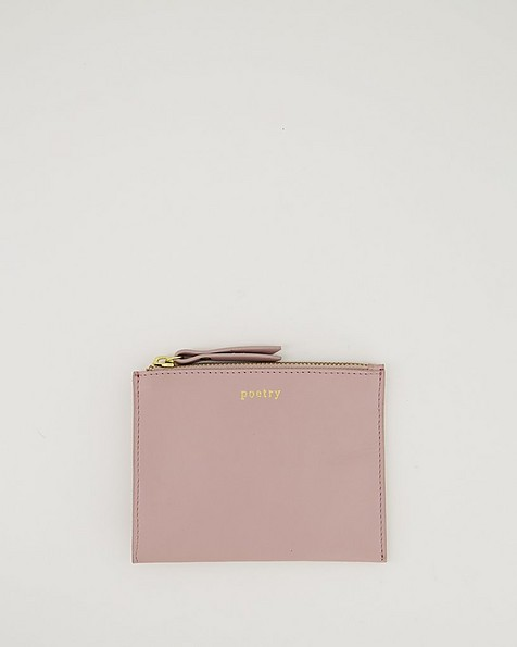 Marrian Plain Leather Pouch -  lightlilac
