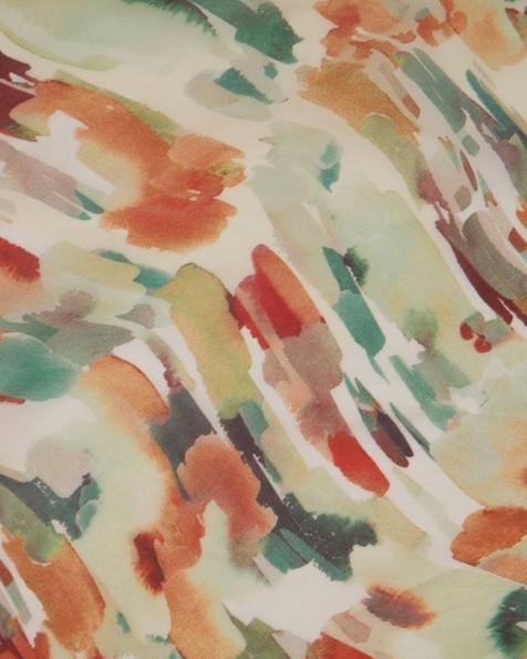 Shona Watercolour Pebble Silk Scarf -  coral
