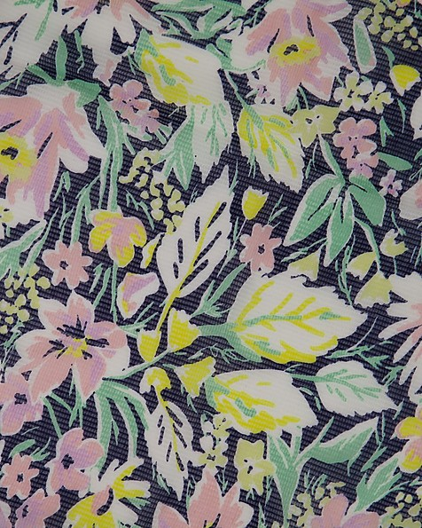 Clemmy Abstract Floral Scarf -  lightgreen