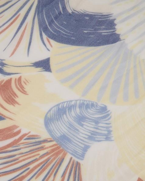 Shami Circular Printed Scarf -  blue
