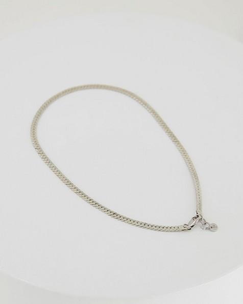 Flat Snake Chain -  silver