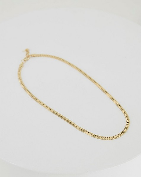 Flat Snake Chain -  gold