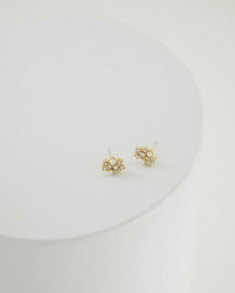 Pearl Stud Earrings -  milk