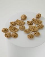 Tiered Straw Drop Earrings -  oatmeal