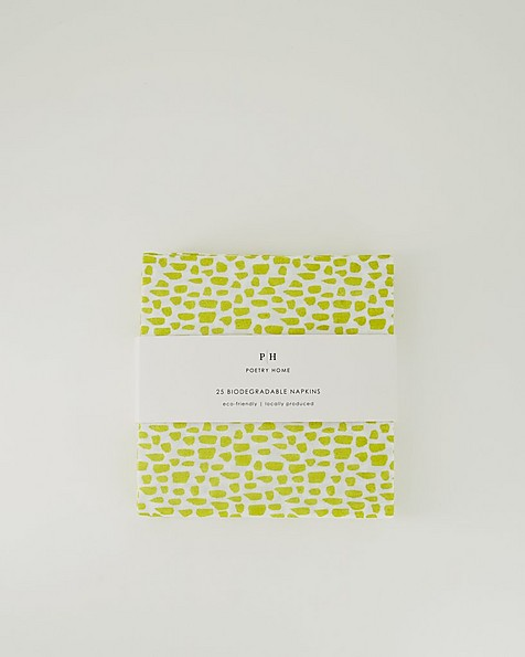 Spotted Biodegradable Napkins -  green